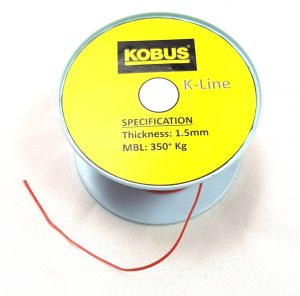 K-Line Drawstring 1.5mm (MBL 360kgs) Red Image